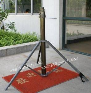 portable tripod handbrake mobile antenna telescoping mast