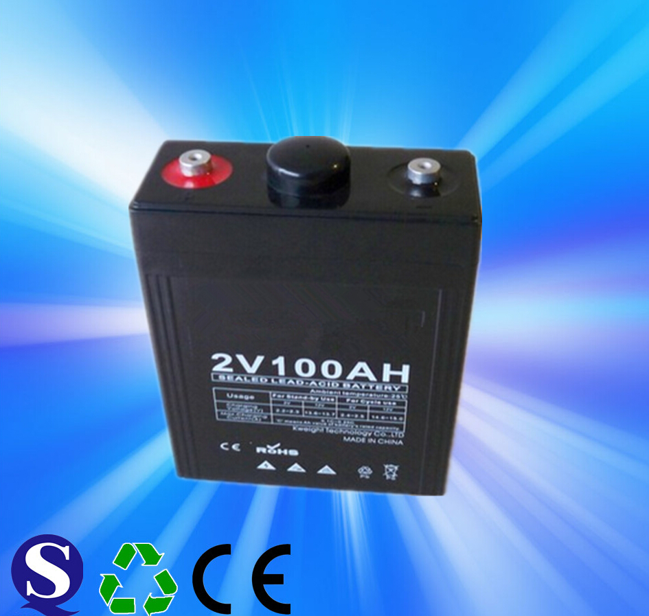 Low Price Double Channel 2v100ah Sealed OPzv GEL Lead Acid Battery