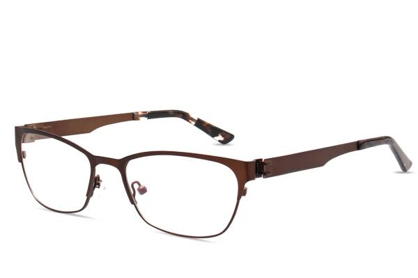 Fashion design flexible super light weight stainless steel metal optical frame JC8023