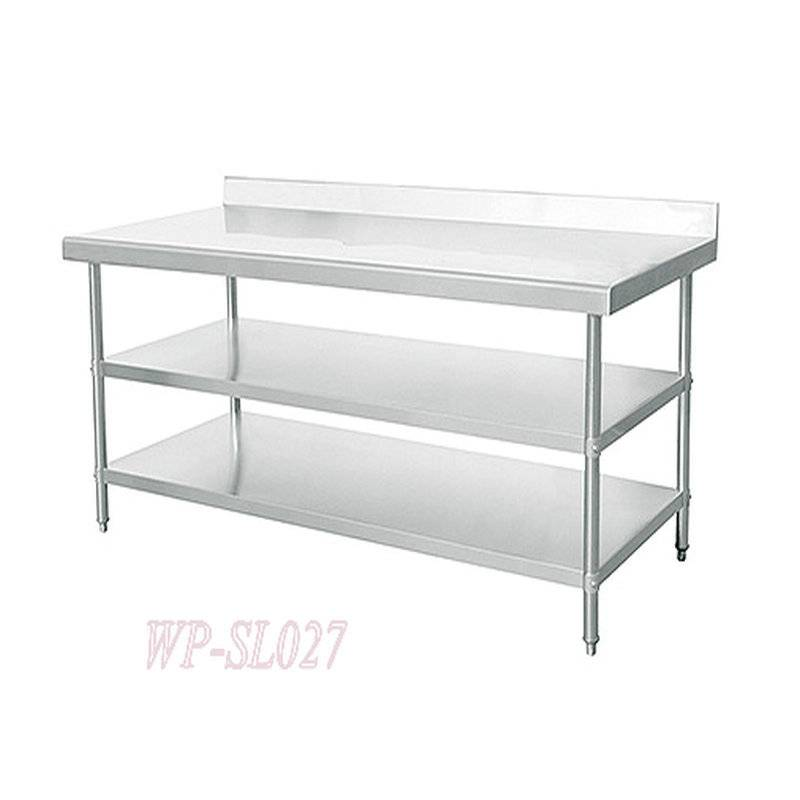 Three Layers Stainless Steel Commercial Kitchen Working Table with Under Shelf