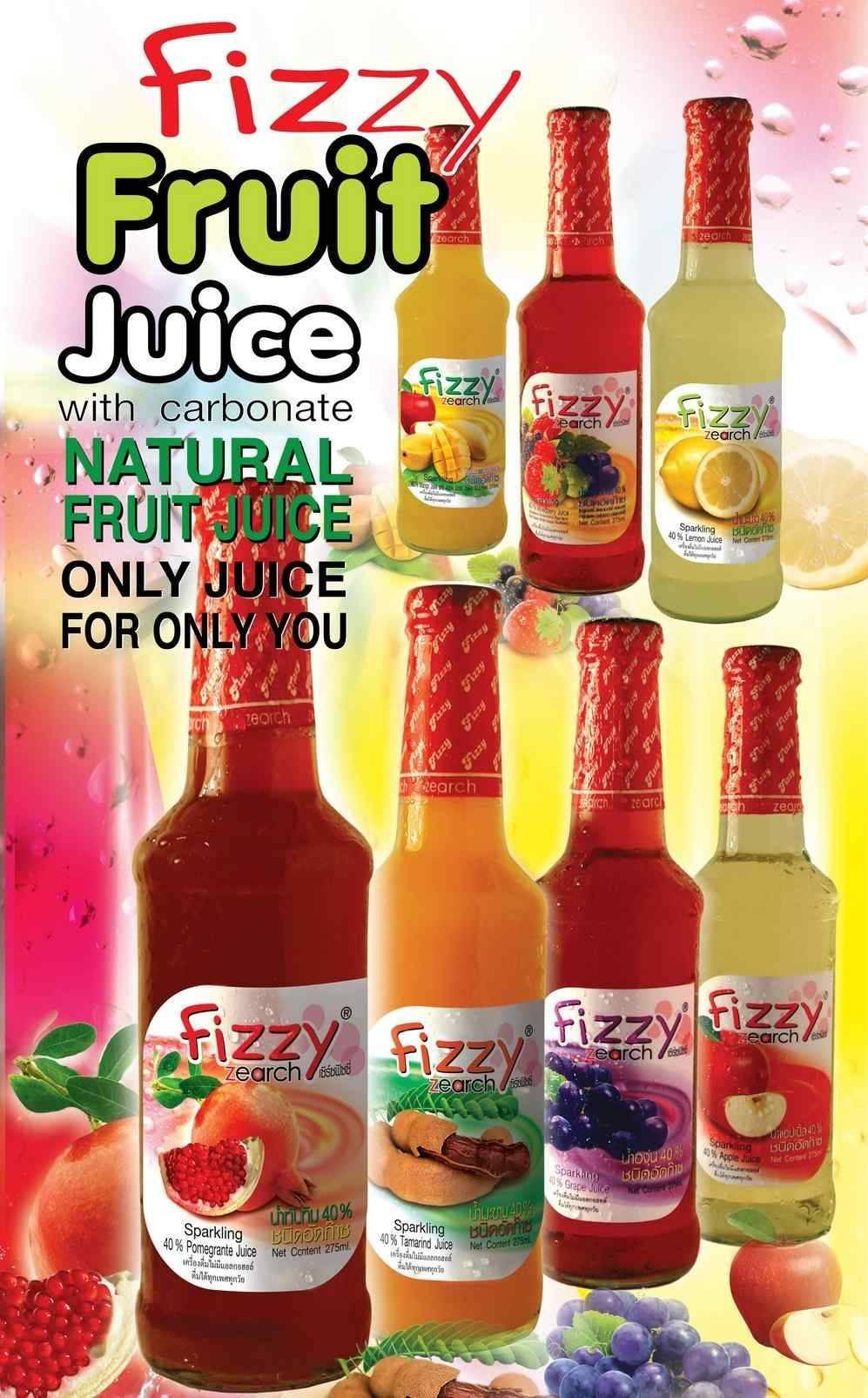 Fizzy 40% sparkling fruit juice