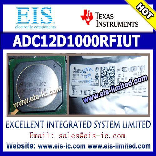 ADC12D1000RFIUT - Texas Instruments (TI) - ADC12D1600/1000RF 12-Bit, 3.2/2.0 GSPS RF Sampling ADC