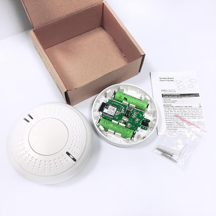 Tuya WiFi cellphone connected fire alarm wifi smoke alarm