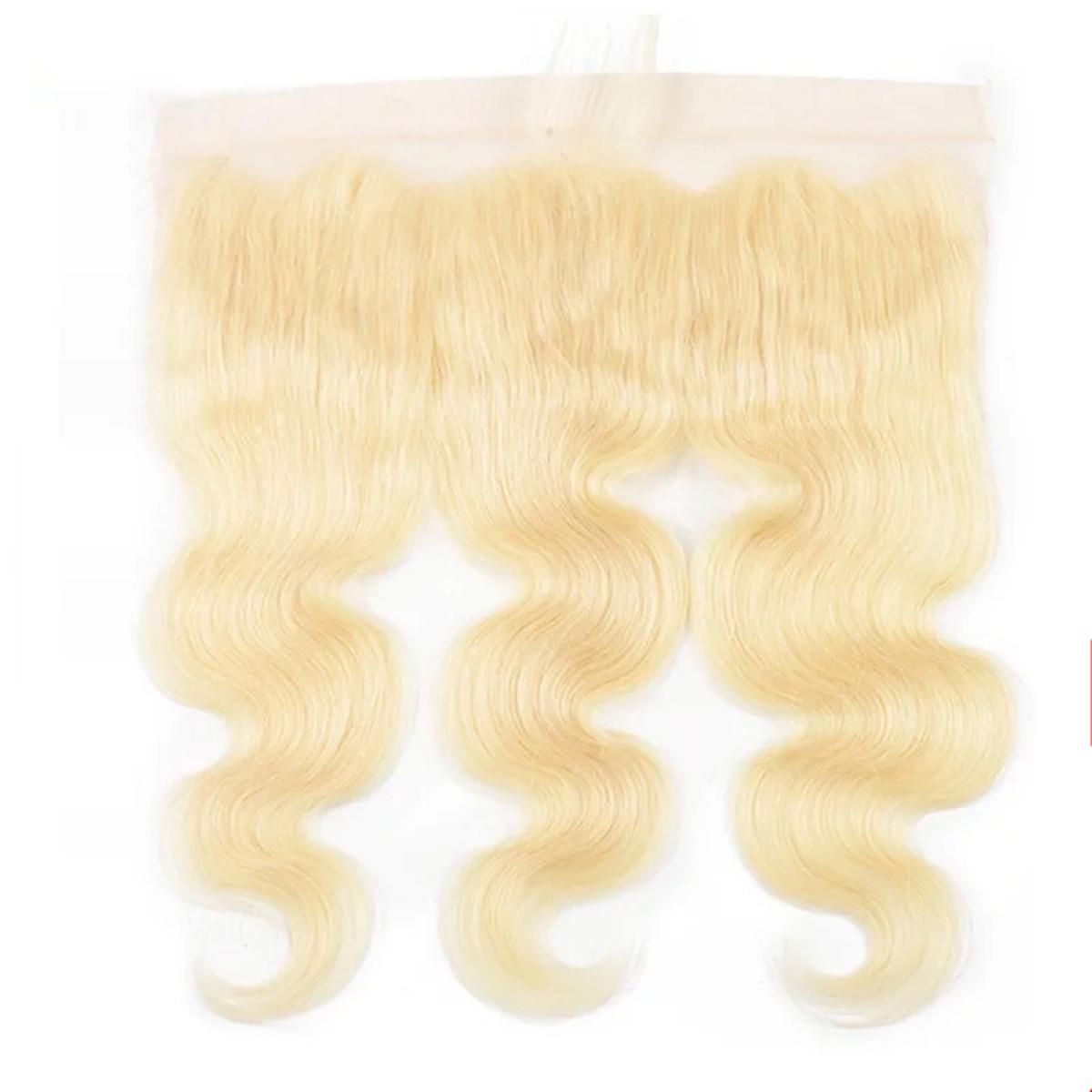 LEDON 13x4 Lace Frontal, Bodywave BW, Color 613, 100% Human Hair Extension