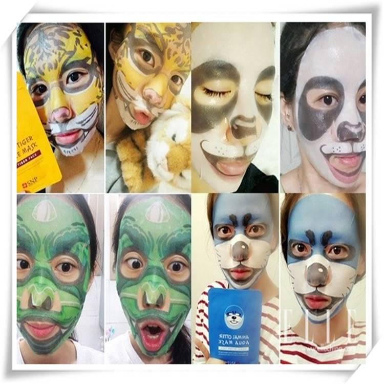 hotsale animal face mask sheet for DIY skin care