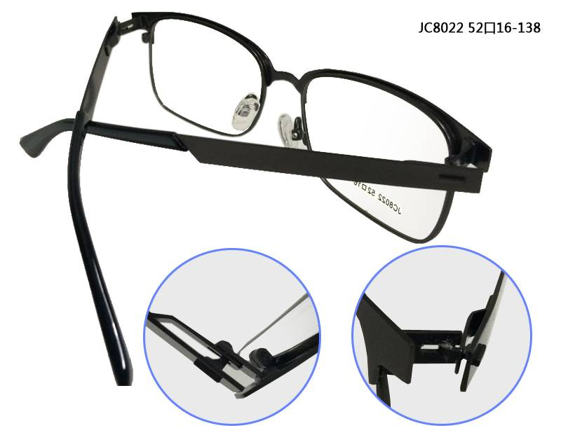 Fashion design flexible super light weight stainless steel metal optical frame JC8022