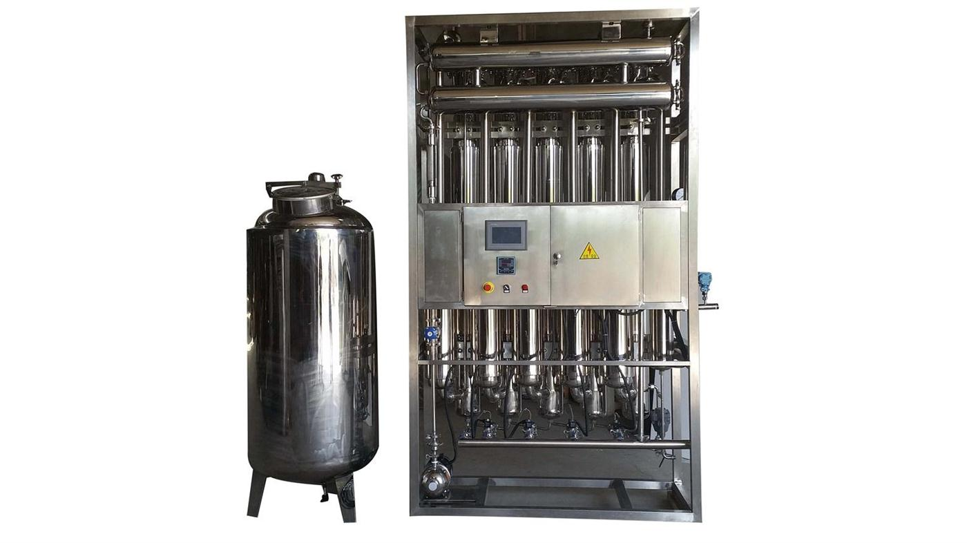 500Liters/hour PLC control Multiple effect water distiller for injection