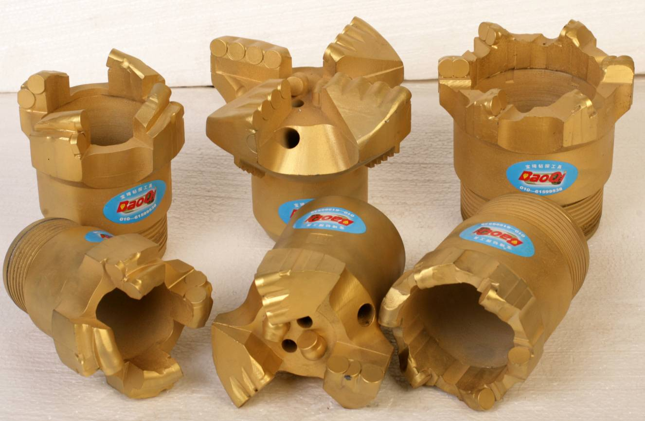 Quality PDC drill Bits (Geological,water well,coal usd for Sandstone, Limestone, Clay)