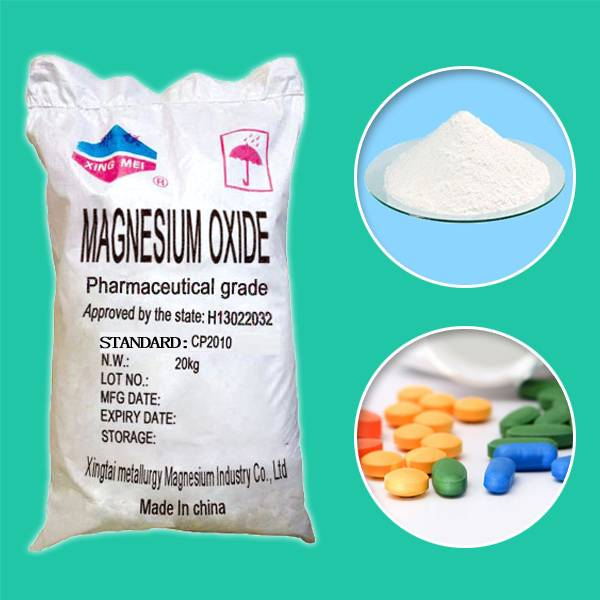 Pharma grade magnesium oxide for medical