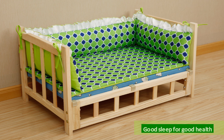 pet wooden bed