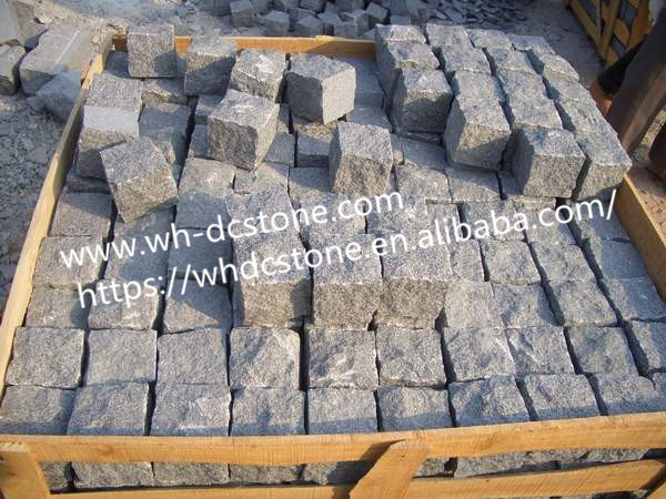 G603 granite cubes,light grey granite, granite paving stone