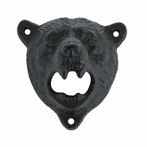 Bear Head Wall Mount Bottle Opener