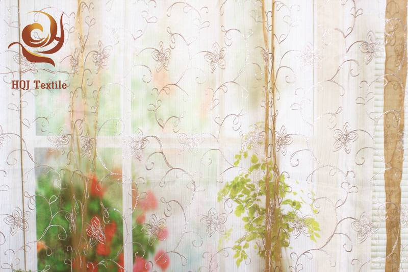 new design embroidered voile curtain