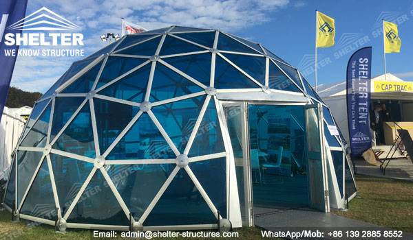 Dia. 6m Geodesic Dome Greenhouse - Glass Domes