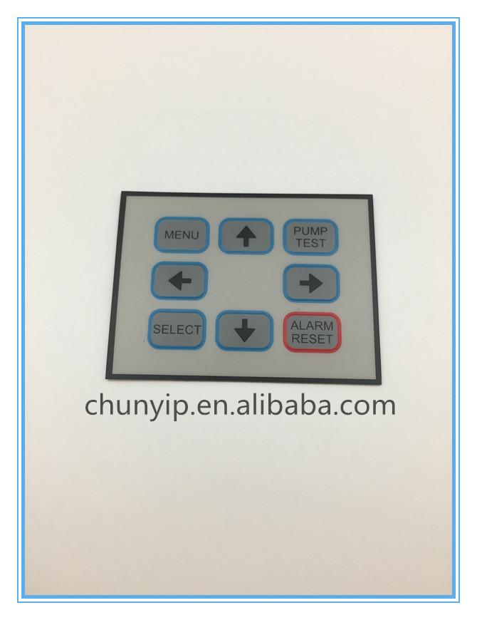 membrane embossed keypad panel