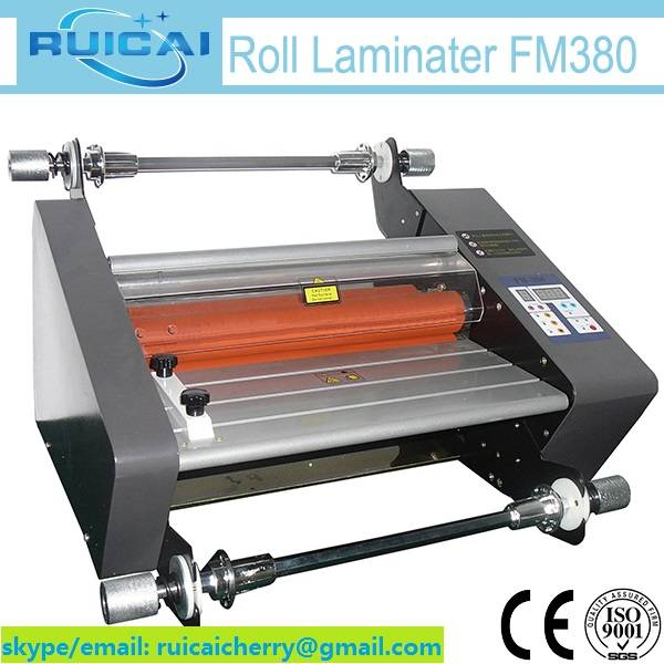 380mm Small Laminator FM380 Cold and Hot Lamination Machine