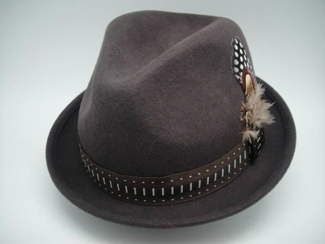 Man Wool Felt Fedora Hat (FM001065)