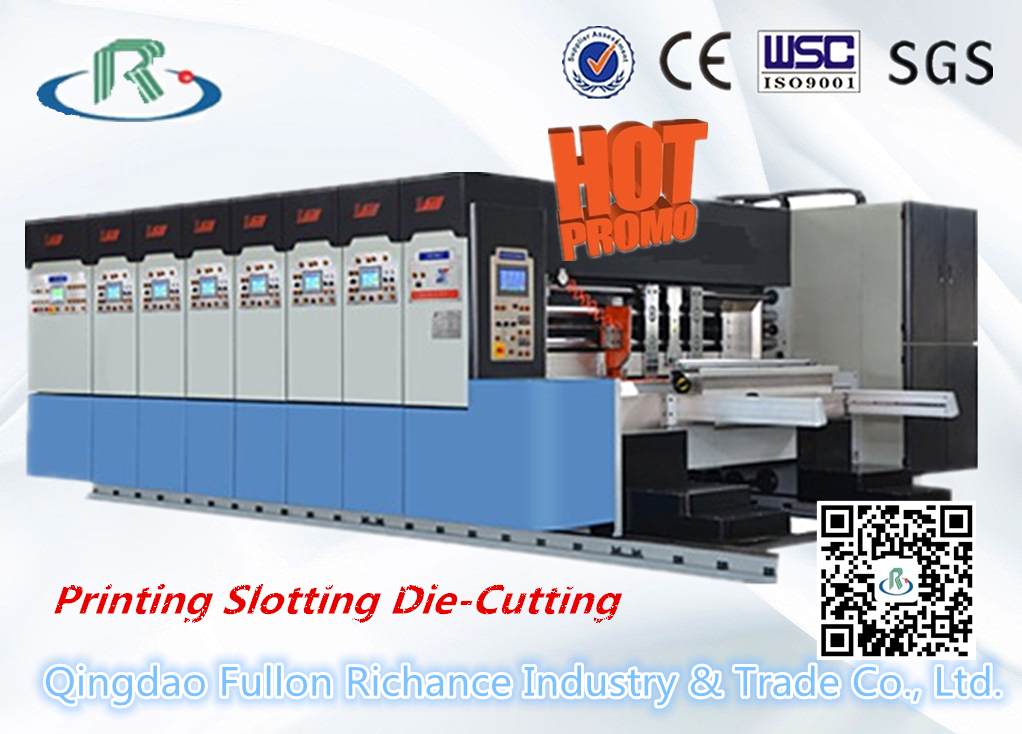 Hot Sale Flexo Rotary Die Cutting Printing Slotting Machine (Stacking)