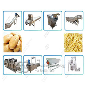 Pre-fried French Fries Making Machine