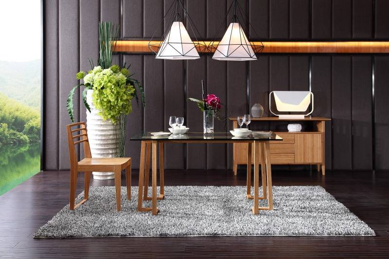 bamboo furniture set dining table chair