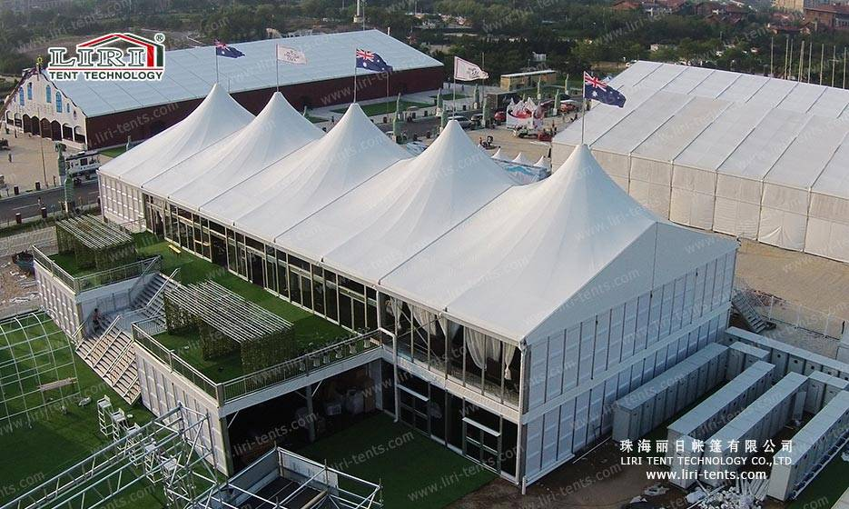 20X50m High Peak Double Decker Tent for Outdoor Events