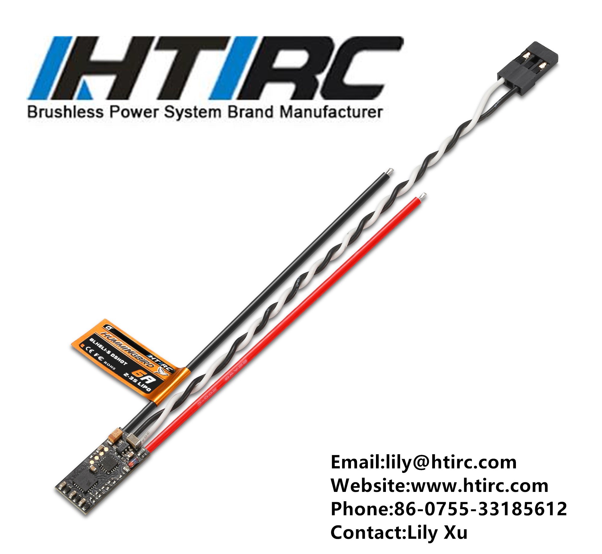 HTIRC Hummingbird BLHeli-S DSHOT FPV ESC 6A Brushless Speed Controller for FPV RC Frame Drone Quadc