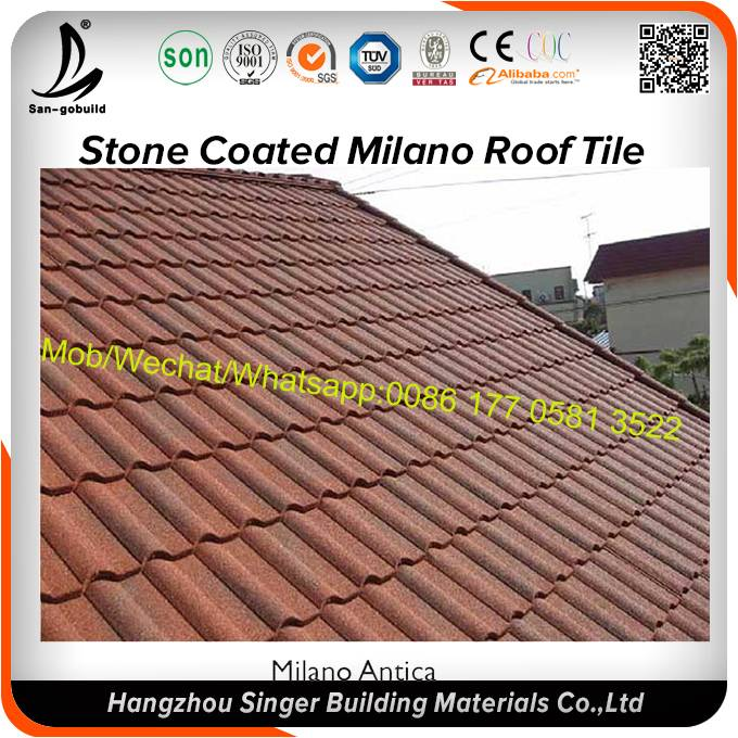 50 years warranty steel roof sheets / aluminium colorful stone coated metal roofing tiles