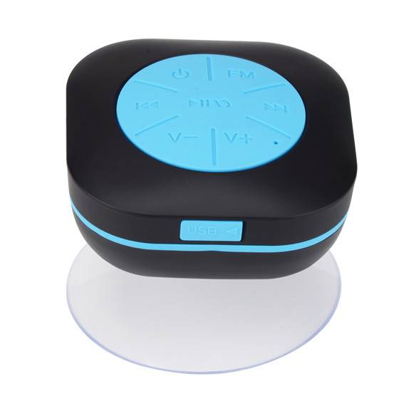 Shower speaker with FM radio (waterproof Bluetooth wireless speaker)