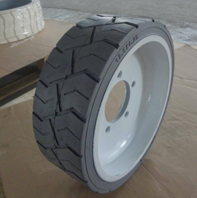 mould on rims and wheels 12.5x4.25 for forklift