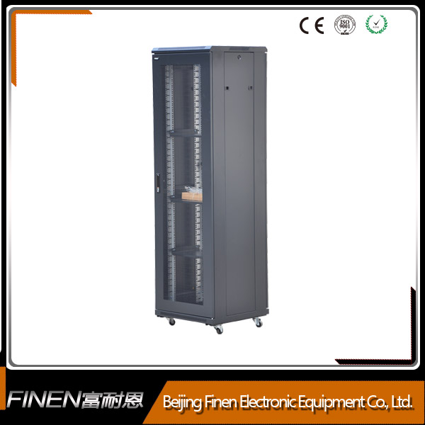 Data entry free standing networking rack cabinet 42u