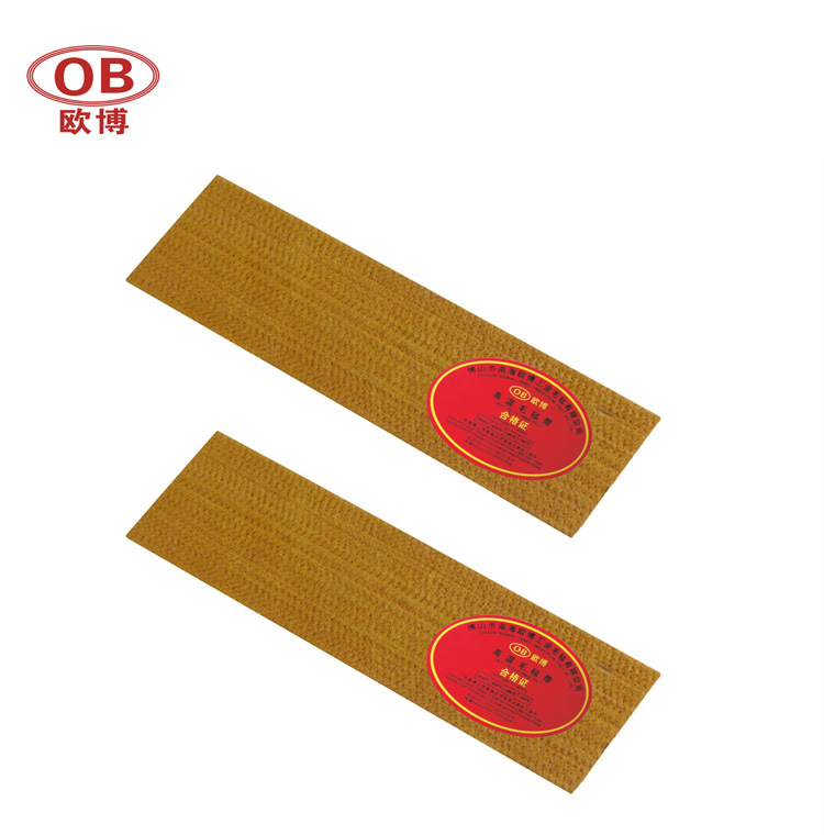 PBO Felt Pad Strip on lead-out tables