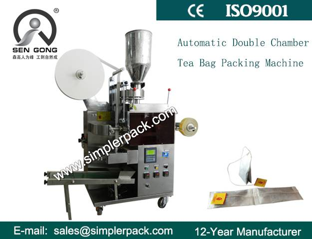 Semi-automatic Double Chamber Tea Bag Packing Machine