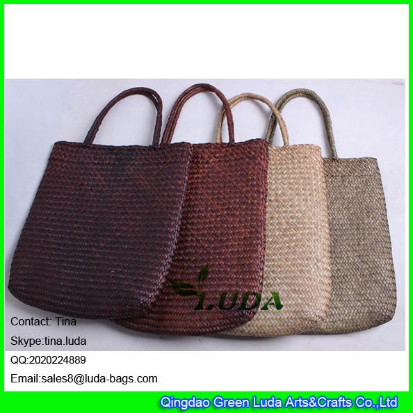 LDSC-163 wholesale seagrass straw handbags cheap straw handbags for promotion