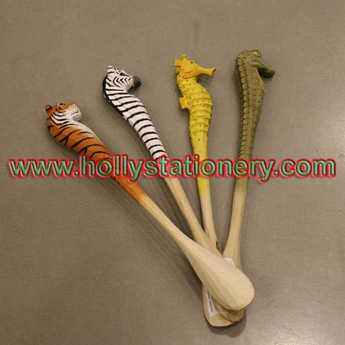 Cute wooden carved shoehorn in various animal shape