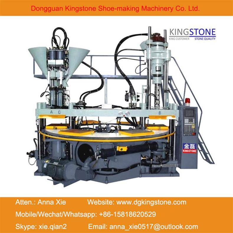 Rotary PVC Upper/Straps Injection Moulding Machine
