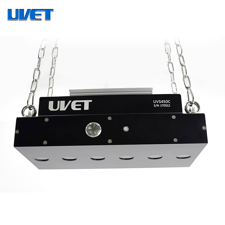 Stationary UV LED lamp for Large Area Fluorescent Inspection