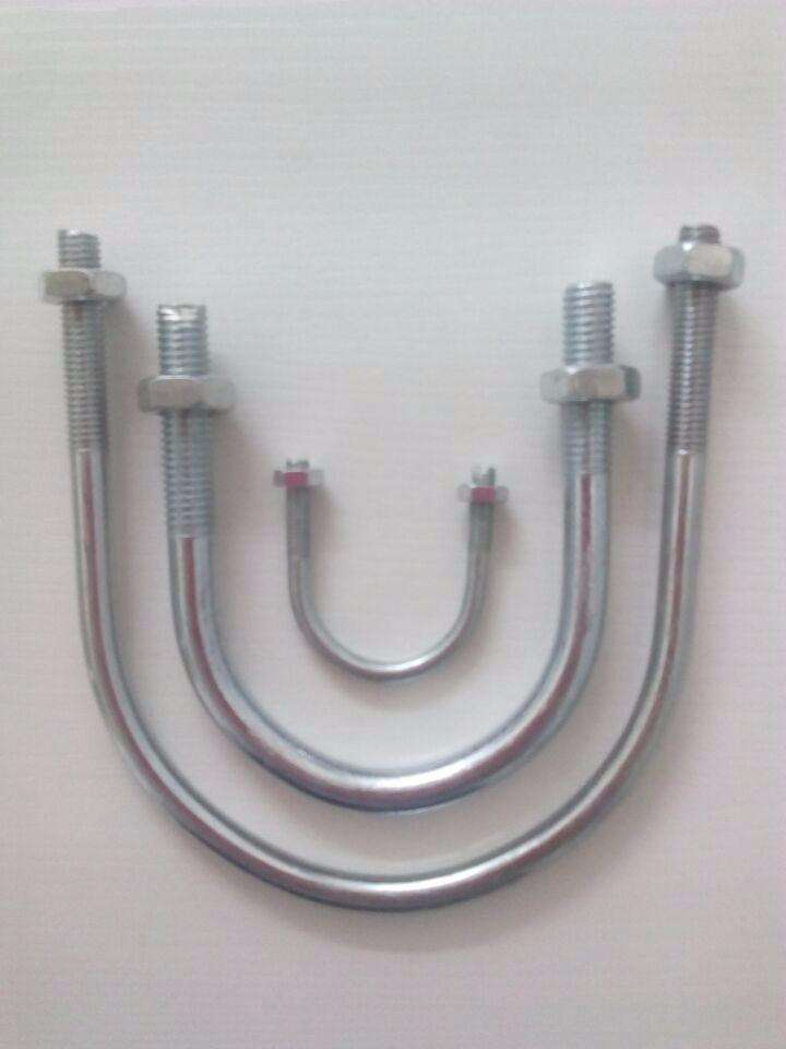 U-Bolt Gr. 4.8 with White Zinc Plated Cr3+