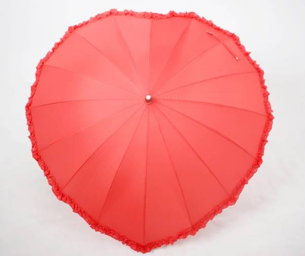 Heart Shape Wedding Favor Bridal Straight Lace Umbrella