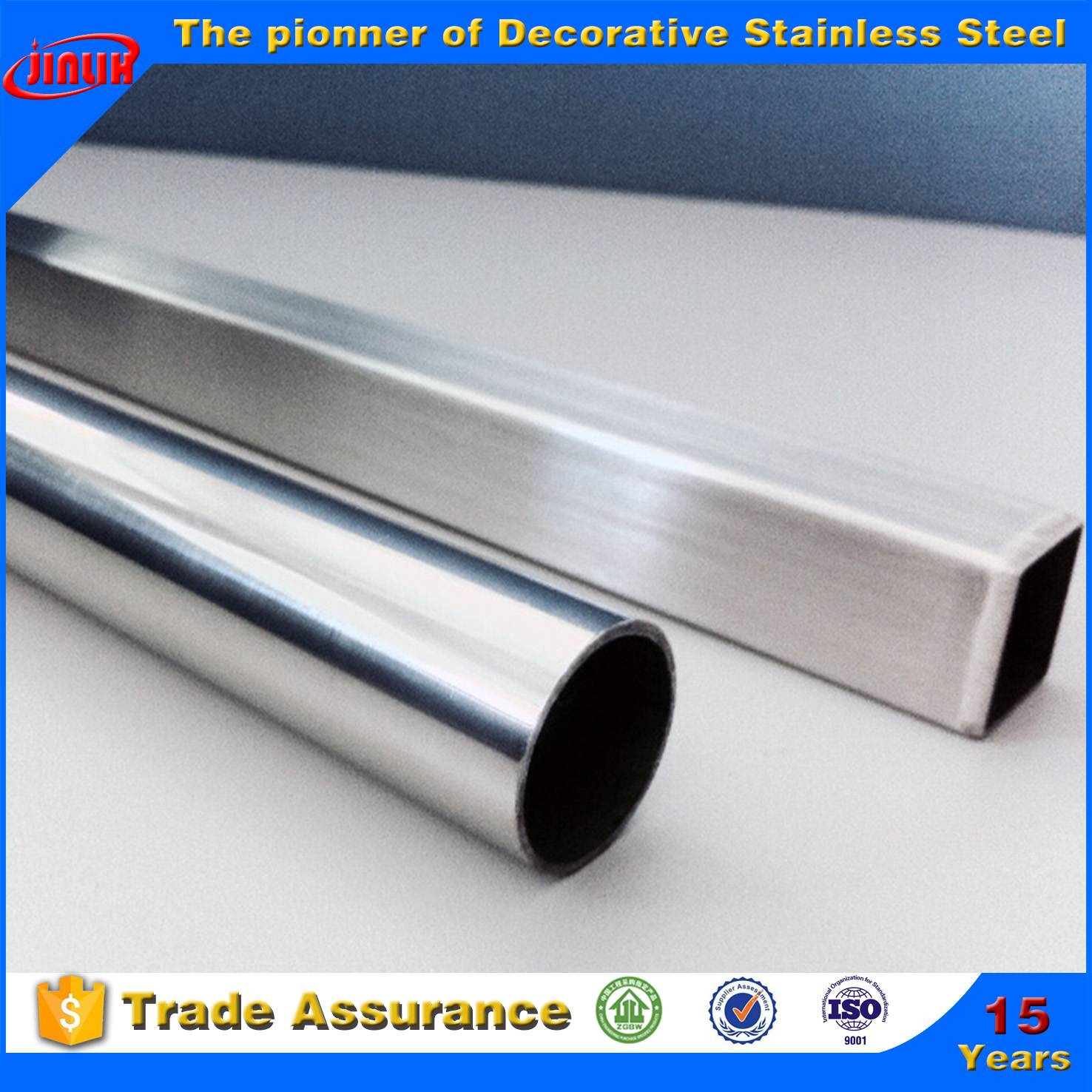 JIS,AISI,ASTM,GB,DIN,EN,ISO Standard Stainless steel welded tube