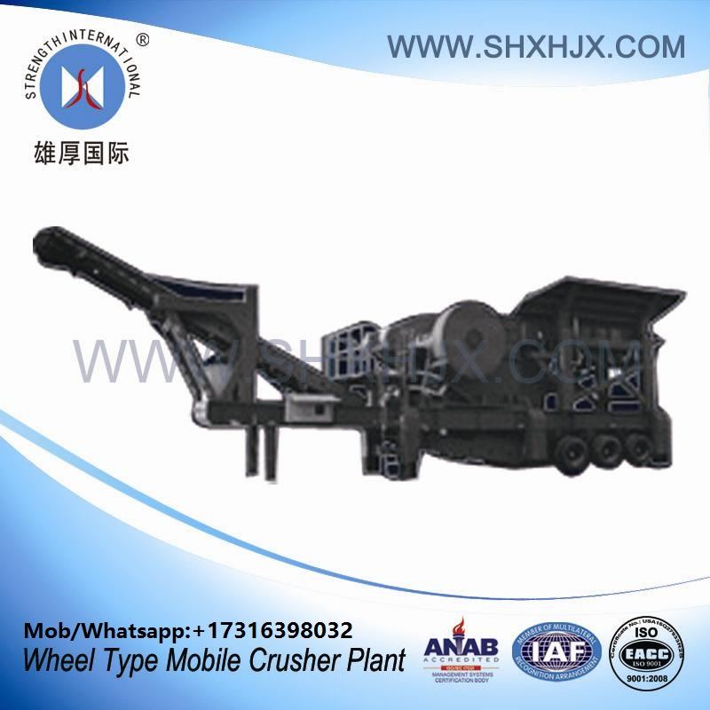 Wheel Type Portable Mobile Crusher Plant With 80-130 TPH