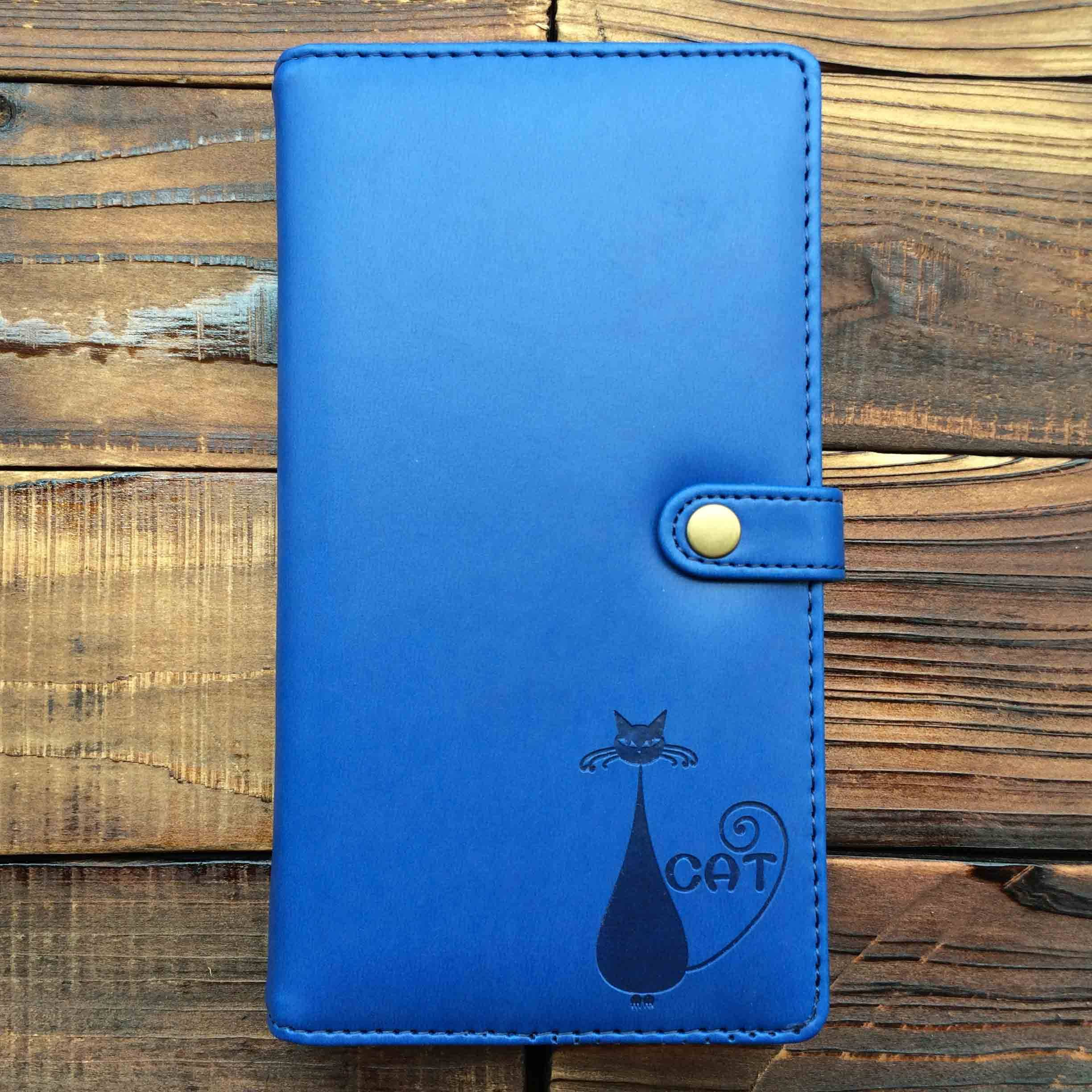 A6 pocket notebooks pu leather cover material blind embossed logo