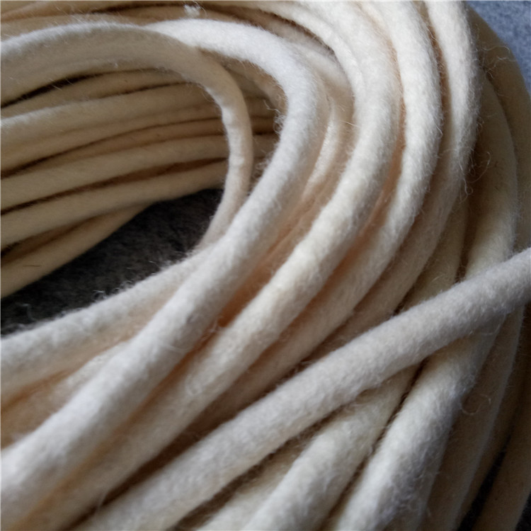 Customized industrial wool felt rope/wool felt seals/wool felt gasket/wool felt tube