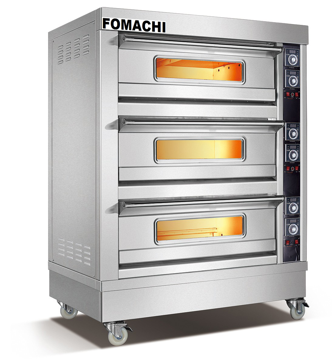 Electric Bread Deck Oven 3 Deck 6 Trays Front S/S Electric Baking Oven FMX-O38C