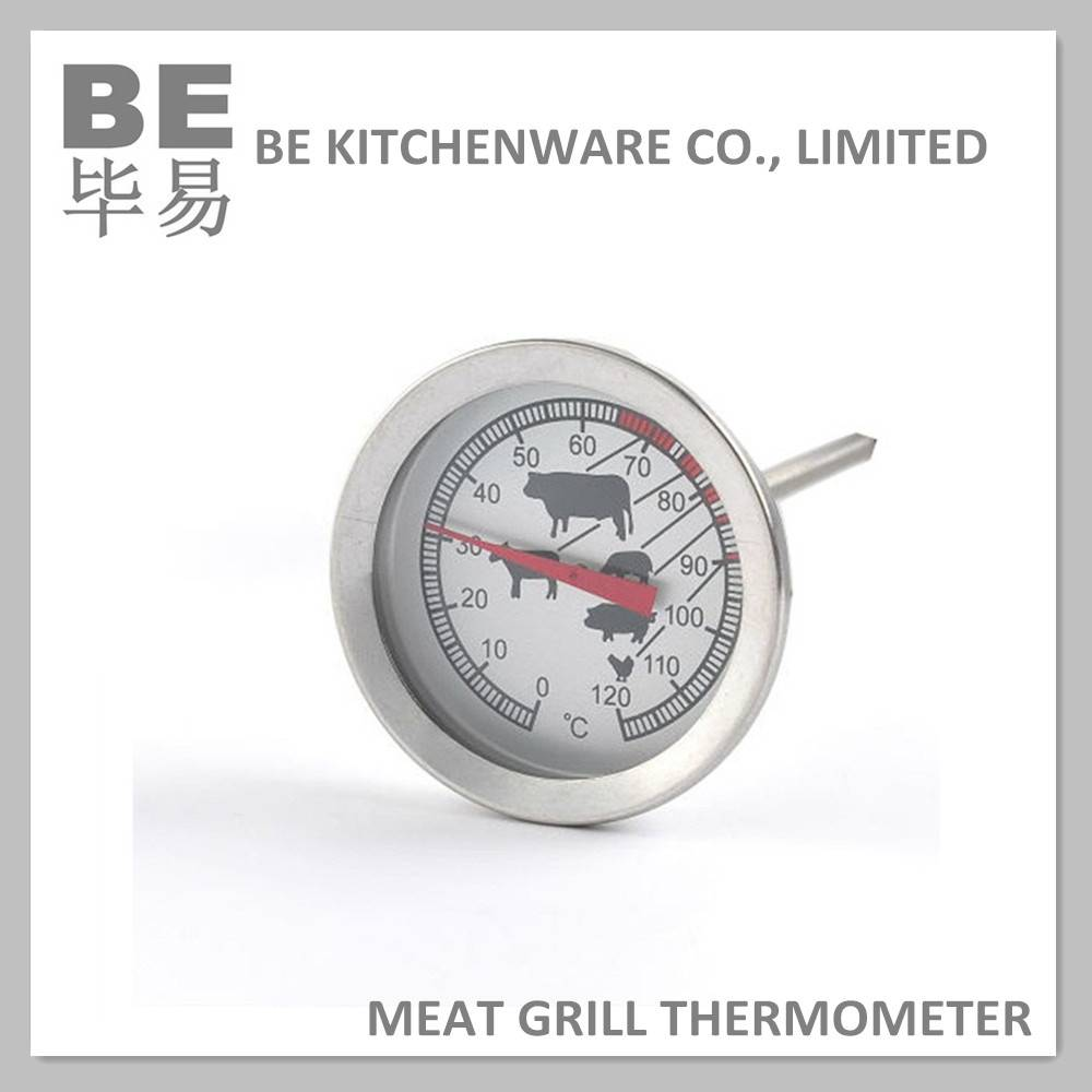 Dial type analog meat thermometer