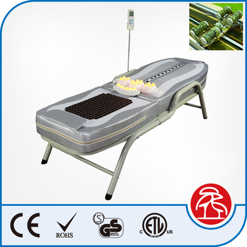 Electric Tourmaline Roller Heating Portable Massage bed Table