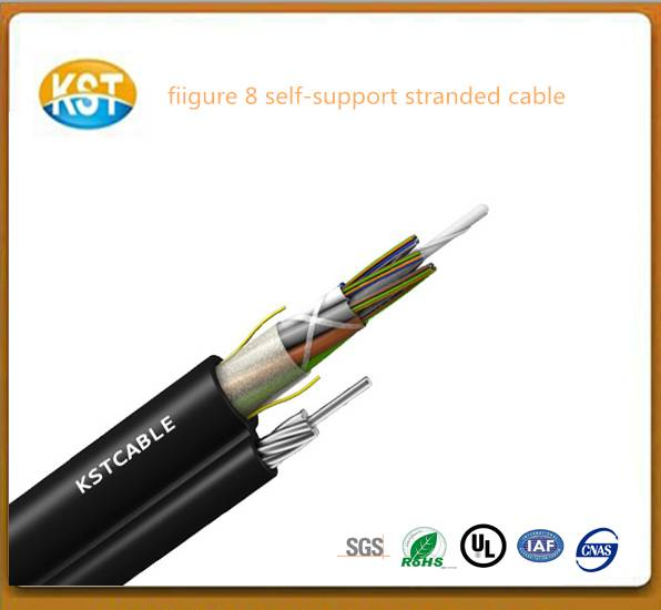 manufacturer optical cable/Figure 8 self-supporting stranded fiber cable PEsheath