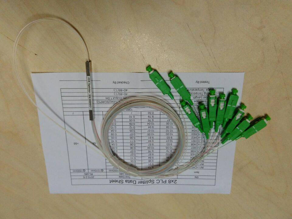 PLC splitter , 2x8  steel-tube