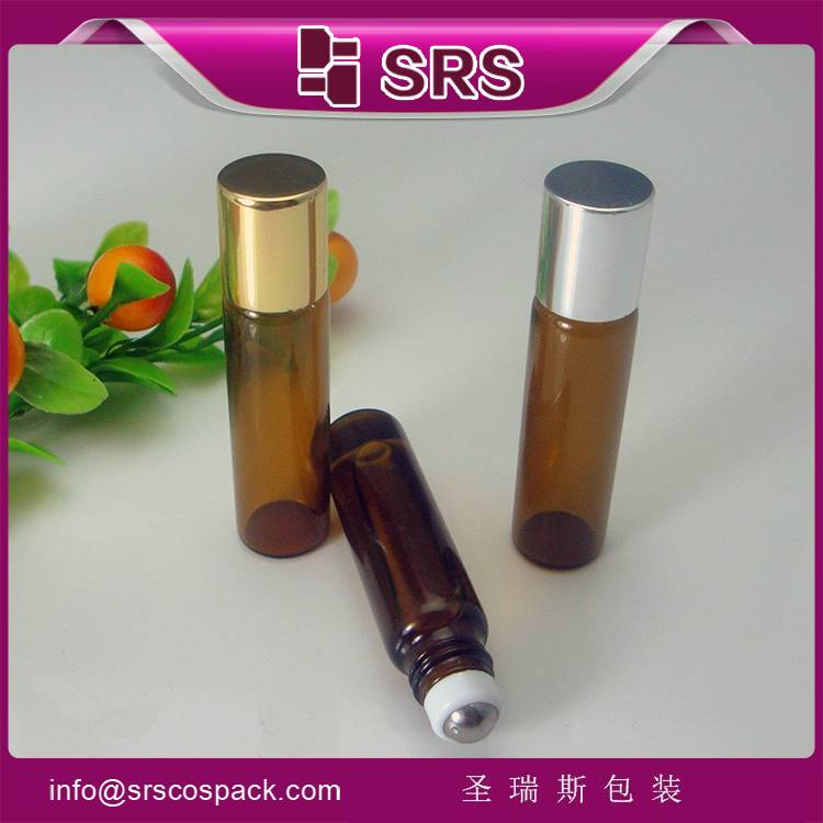 manufacturer hot sale 100% no leakage  5ml amber glass essential oil bottle