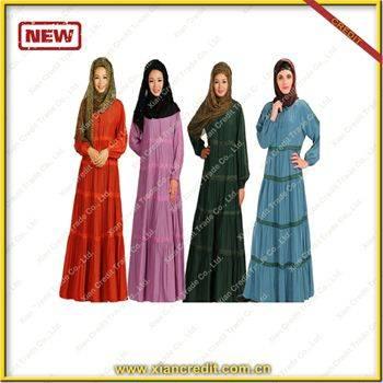 2014 Newest promotion muslim women kaftan made of Rayon
