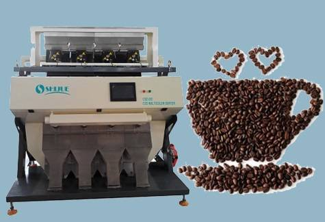 High accuracy 5000*3 Pixel Color Sorter for Coffee Bean with Self checking system